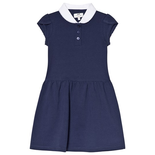 Cyrillus Navy Dress with White Collar 6399
