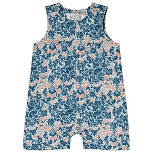 Image of Anïve For The Minors Baby Romper Bysans Blue 1-2 mdr (3019037225)