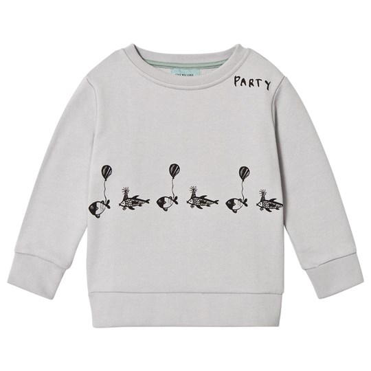 One We Like Fish Party Basic Sweater Vapour Grey Vapour grey