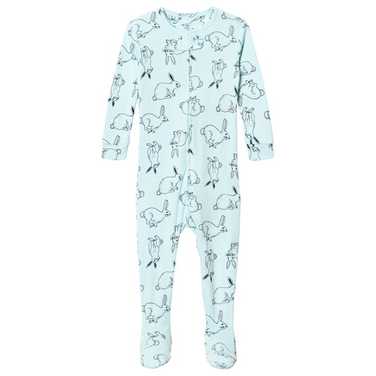 GAP Bunny Footed Baby Body Blue Tint Blue Tint