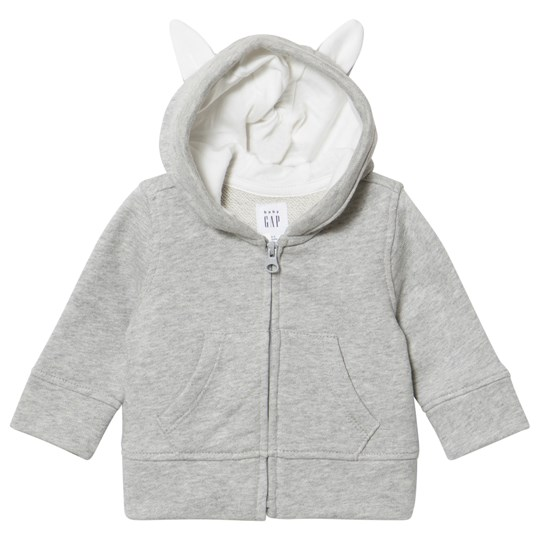 GAP Bunny Hoodie Light Heather Light Heather Grey B08