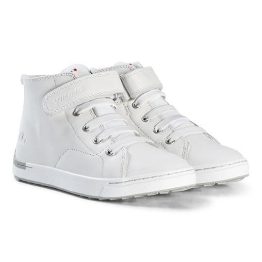 Viking White Smestad Mid Sneakers White