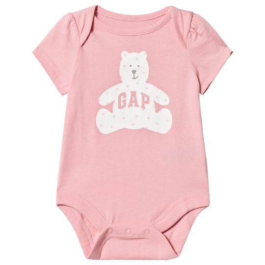 GAP Logo Graphic Baby Body Belle Pink Belle Pink