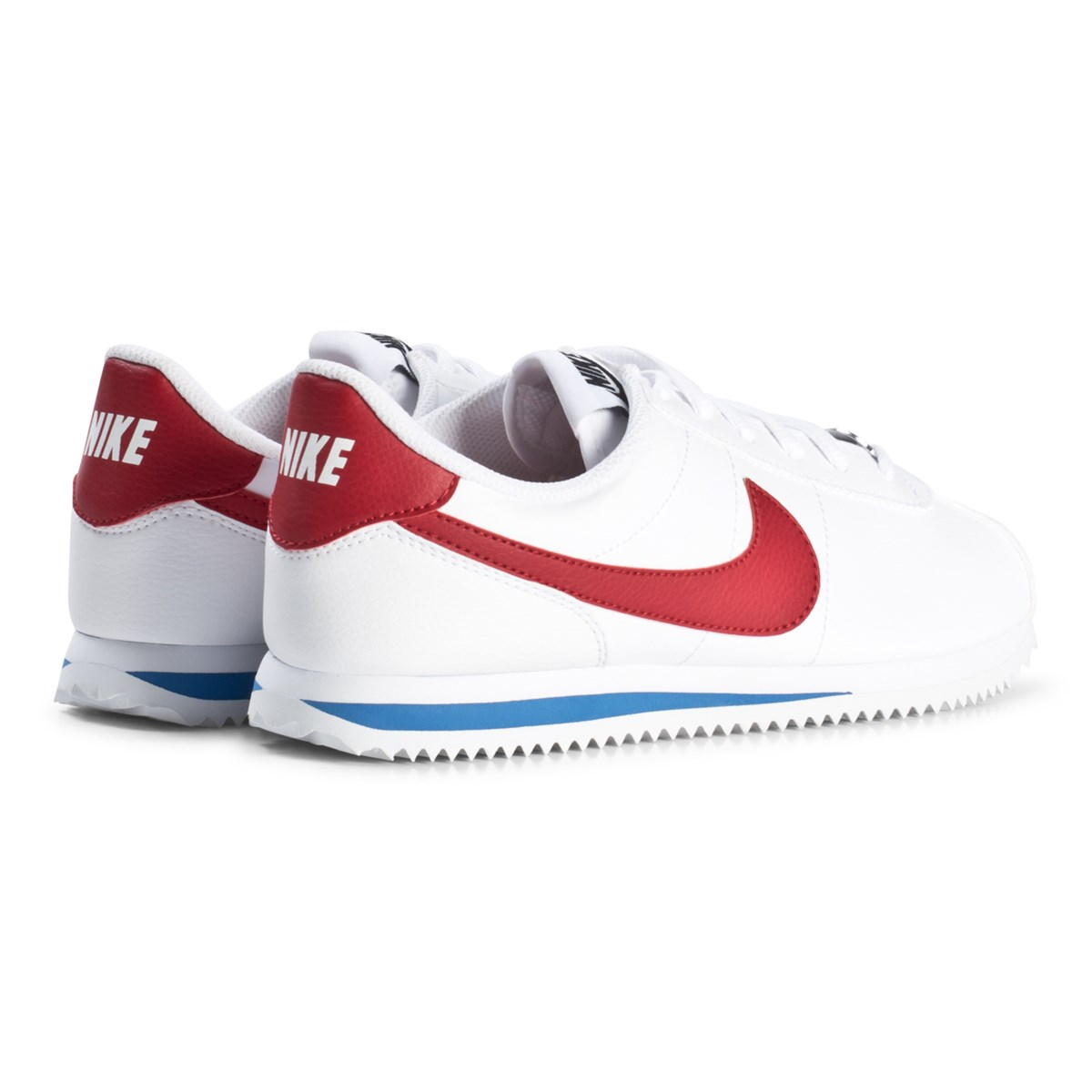 size 40 69774 f6759 NIKE - White and Red Cortez Junior Sneakers - Babyshop.com