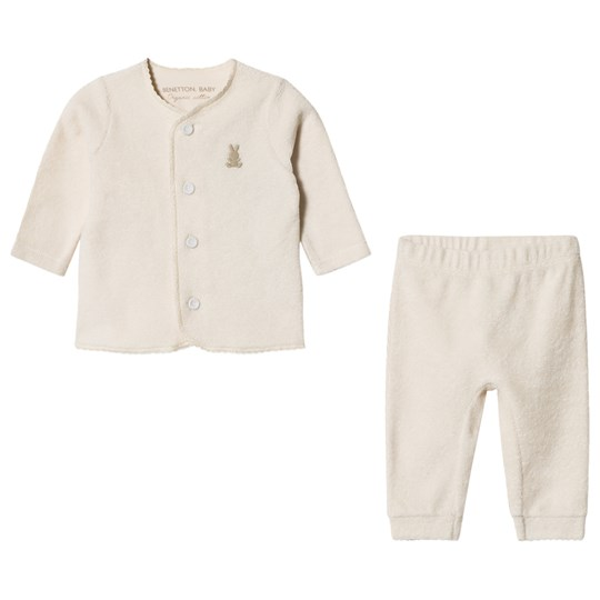 United Colors of Benetton Set Jacket + Trousers Cream Cream