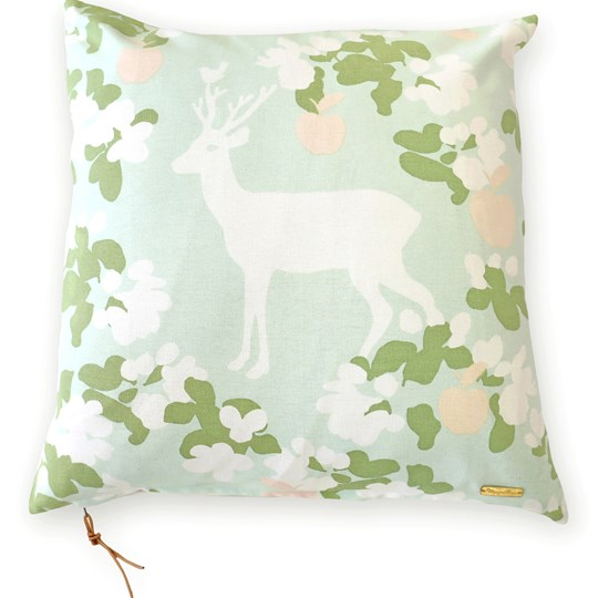 Majvillan Apple Garden Cushion Cover Mint Turquoise