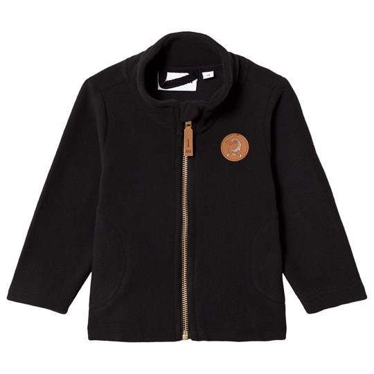 Mini Rodini Fleece Jacket Black Black