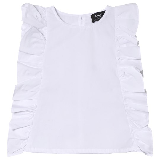 Bardot Junior White Deliah Frill Top Cloud Dancer