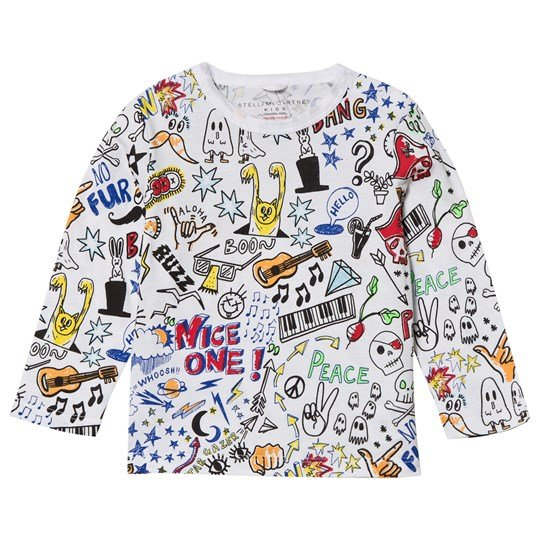 Stella McCartney Kids White Doodle Print Georgie Tee 9086