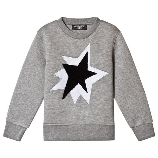 Neil Barrett Grey Sweatshirt with Double Star 101