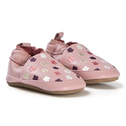Melton Flowers Leather Shoes Pink
