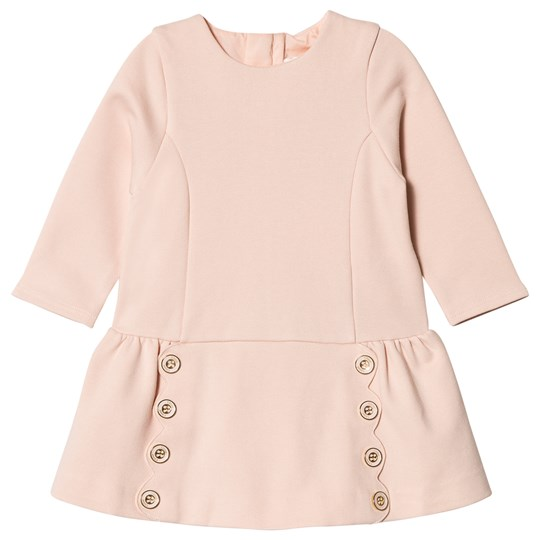 Chloé Pink Milano Scallop and Button Detail Dress 438