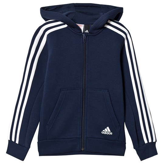 adidas Performance Navy Side Stripe Hoodie COLLEGIATE NAVY/WHITE