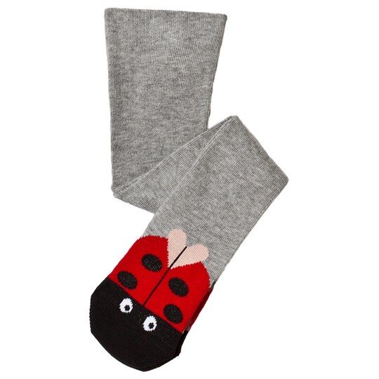 Stella McCartney Kids Grey Sweetpea Tights with Ladybug Print 1461 - Thunder