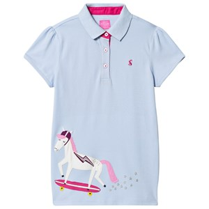 Image of Joules Blue Moxie Skate Horse Applique Polo Top 1 year (1134013)