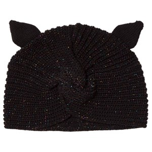 Image of Catimini Black Lurex Eared Knit Beanie 49cm (2-3 years) (3065525953)