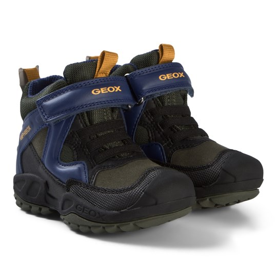 Geox Navy and Royal Blue Waterproof New Savage Amphibiox Boots CA3K4