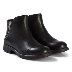 Image of Geox Black Leather Junior Agata Boots 36 (UK 3) (3056087291)