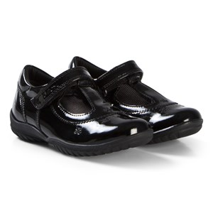 Image of Geox Black Patent Leather Flower Junior Shadow Embroidered T Bar sko 26 (UK 8.5) (1146251)