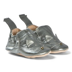 Easy Peasy Blumoo Cat Crib Shoes Pewter