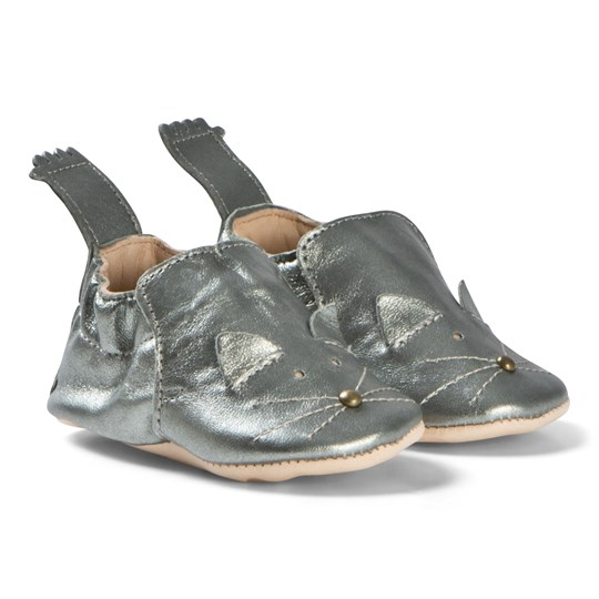 Easy Peasy Blumoo Cat Crib Shoes Pewter 070