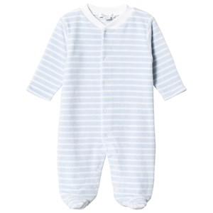 Image of Kissy Kissy Blue Stripe Footed Baby Body 9-12 months (3144400219)