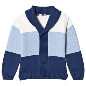 Image of Dr Kid Blue Colorblock Shawl Cardigan 12 months (3057830931)