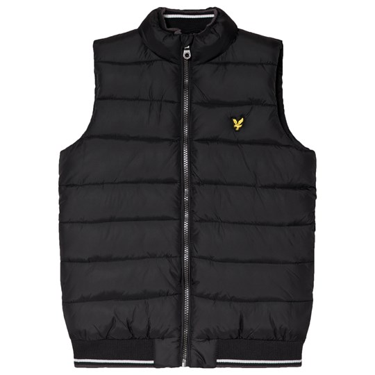 Lyle & Scott Black Puffer Gilet Color Description