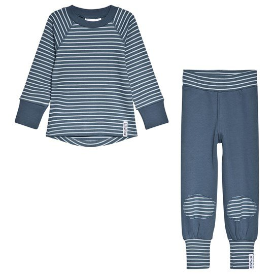 Geggamoja 2-Piece Pyjama Set Soft Blue/Blue Blue
