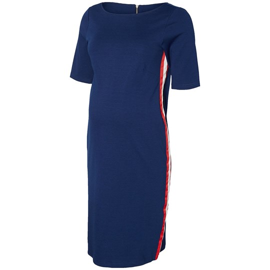 Mamalicious Navy Jersey Dress Medieval Blue
