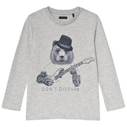 IKKS Grey Bear Print Tee