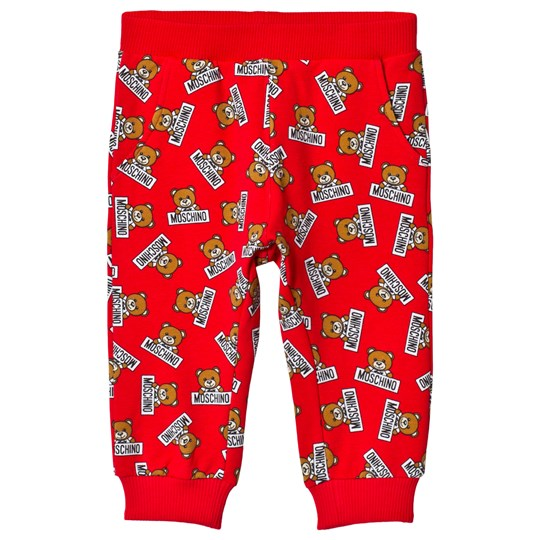 Moschino Kid-Teen Red Multi Bear Print Sweatpants 83994