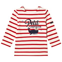Cyrillus Red and White Whale Print Tee