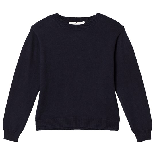 Cyrillus Navy V Neck Sweater 6399