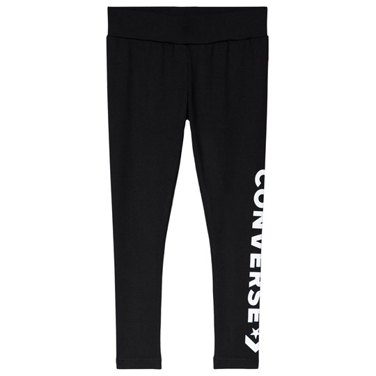 Converse Black Logo Star Chevron Leggings 023-BLACK