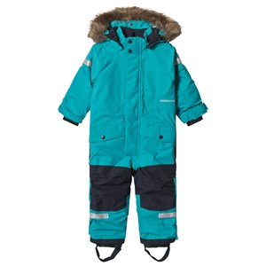 Image of Didriksons Björnen Kids Winter Coverall 2 Peacock Green 80 (9-12 mdr) (3056106019)
