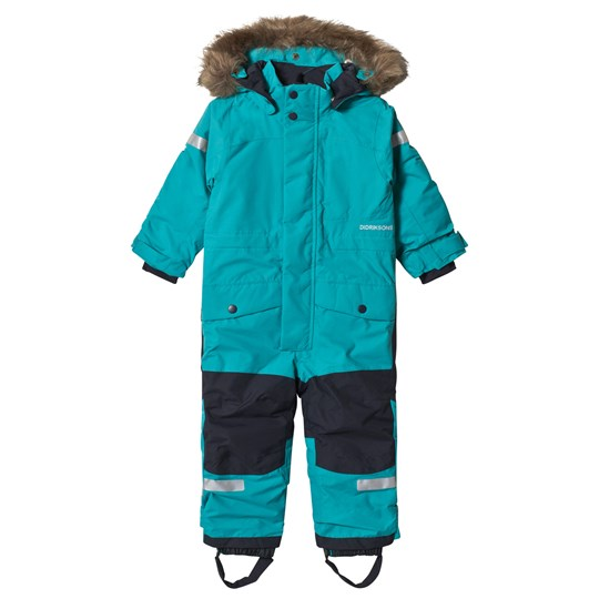 Didriksons Björnen Kids Winter Coverall 2 Peacock Green Peacock Green