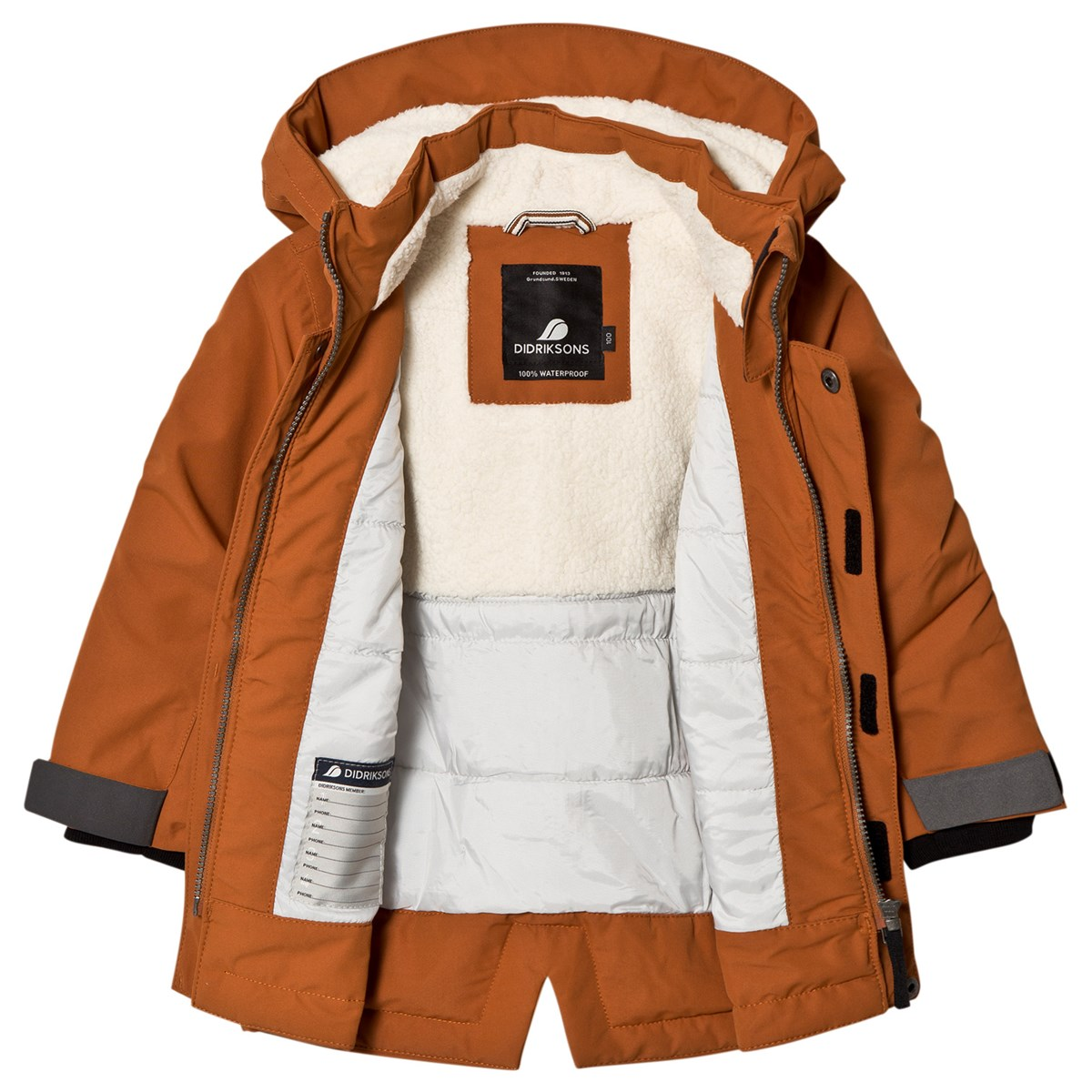 e87f5b09 Didriksons - Originals Björling Kid´s Parka Leather Brown - Babyshop.com