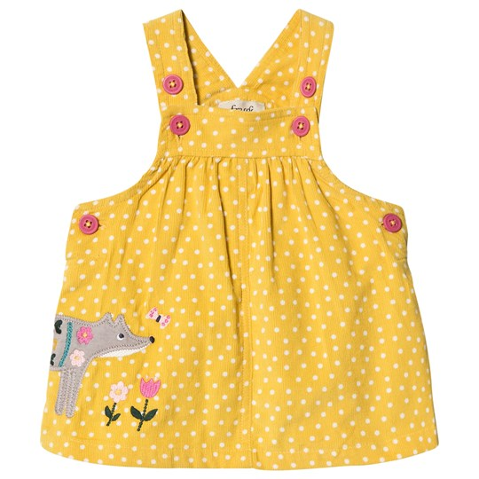 Frugi Spotted Fox Jumper Yellow Gorse Speckle Spot/Fox_AW18