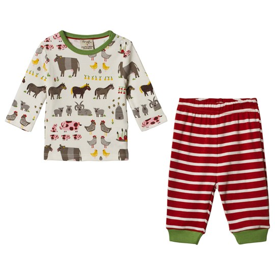 Frugi Soft White Hay Days Oliver Set Soft White Hay Days_AW18