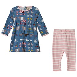Frugi Stone Blue Hay Days Sally Dress Set