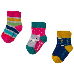 Image of Frugi 3-Pack Little Socks Rainbow 0-6 months (3057108303)