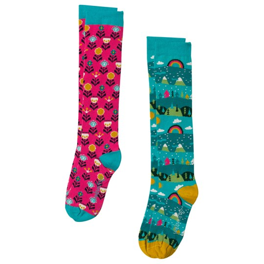 Frugi 2-Pack Hygge High Knee Socks Alpine Town Alpine Town Multipack_AW18