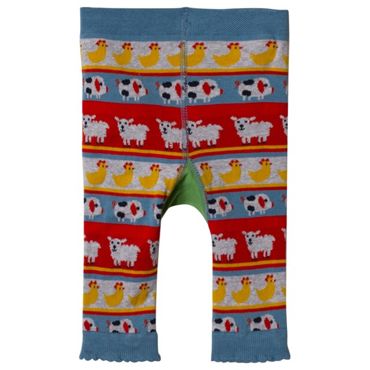 Frugi Multi Color Tractor Fairisle Knitted Leggings Tractor Fairisle_AW18