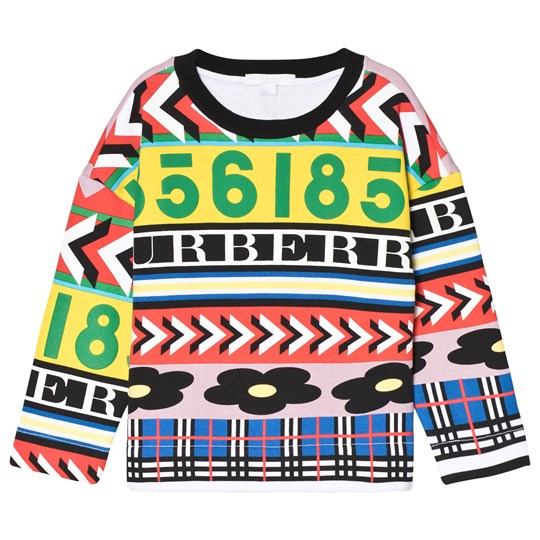Burberry Multicolor Graphic Print Sweatshirt Multicolour