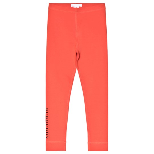 Burberry Orange Red Logo Leggings ORANGE RED MELANGE