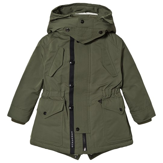 Burberry Sage Detachable Hood Parka Sage