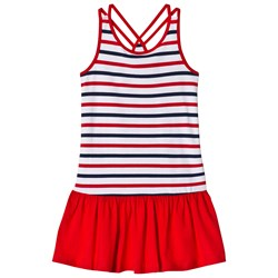 Lands' End Red, White and Blue Stripe Pattern Tank Dress