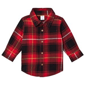 Image of GAP Tartan Shirt Red 18-24 mdr (3125237189)