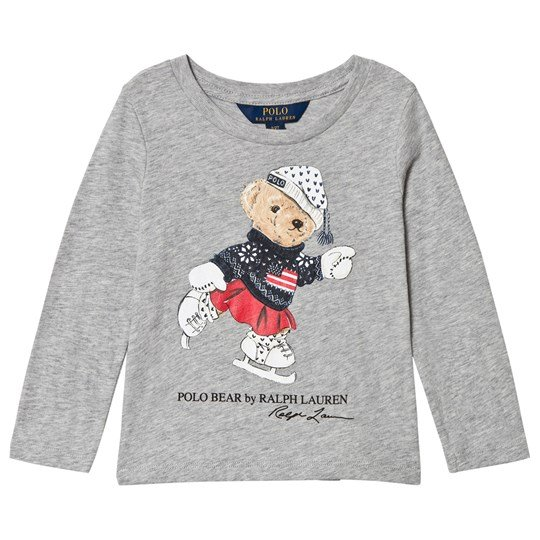 Ralph Lauren Skating Bear Print T-shirt Grå 001
